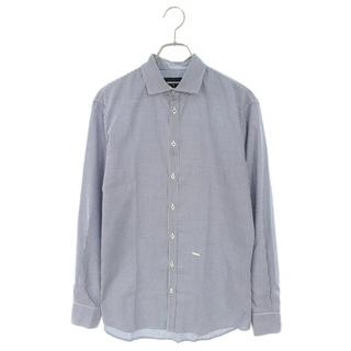 ディースクエアード(DSQUARED2)のディースクエアード ギンガムチェックプレート装飾長袖シャツ 44(シャツ)