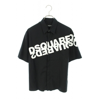 ディースクエアード(DSQUARED2)のディースクエアード ロゴプリントコットン半袖シャツ 42(シャツ)