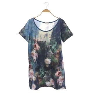ポールスミス(Paul Smith)のポールスミス チュニック Tシャツ 半袖 花柄 総柄 XL マルチカラー(チュニック)