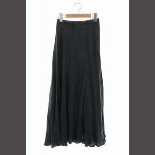 プラージュ(Plage)のプラージュ Plage 20AW Fibril ギャザーロングスカート 36 黒(ロングスカート)