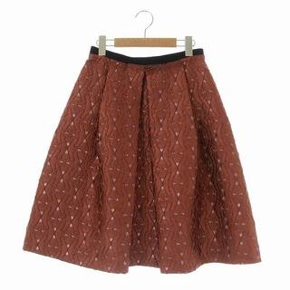 アナイ(ANAYI)のアナイ ANAYI 18AW フレアスカート ひざ丈 38 赤茶 ブラウン(ひざ丈スカート)