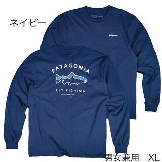 patagonia - パタゴニア ロンT フィッツロイ ネイビー XL フィッシング  アウトドア