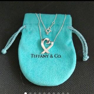 Tiffany & Co. - *美品*ティファニー ラビングハート(大きめ)ネックレス*保存袋付き