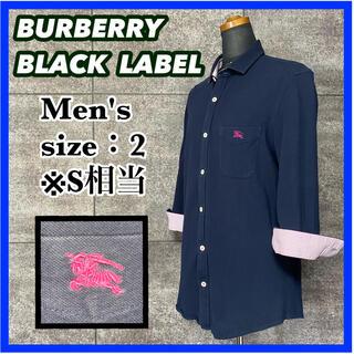 BURBERRY BLACK LABEL - バーバリーブラックレーベル 7分袖 ポロシャツ メンズ サイズ2 S相当