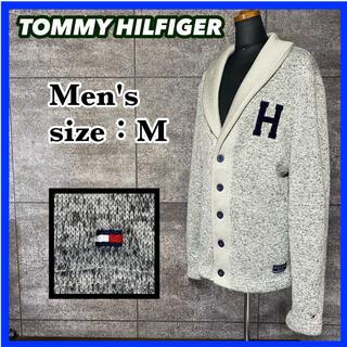 TOMMY HILFIGER - トミーヒルフィガー ショールカラー カーディガン グレー メンズ サイズM