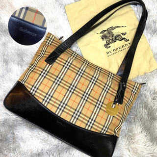 BURBERRY - 超美品 バーバリー Burberrys ノバチェックトートバッグ チャーム A4