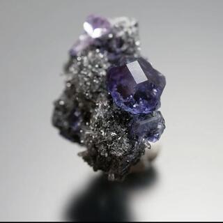 タンザナイトブルーフローライト AC-404 天然石 原石 鉱物 鉱石 蛍石