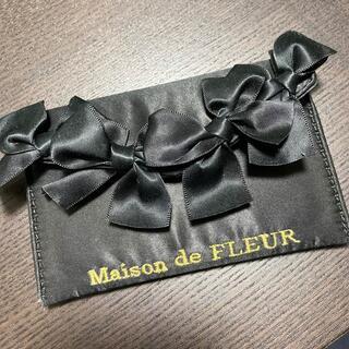 Maison de FLEUR - メゾンドフルール リボンリボンカードケース ブラック