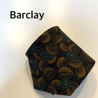 バークレー(BARCLAY)のネクタイ ペイズリー Barclay 茶色 黒 緑 花柄(ネクタイ)