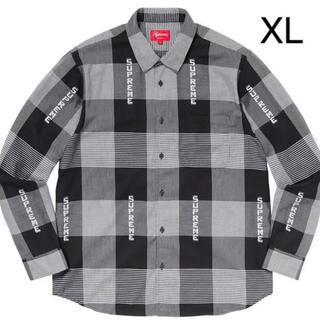 Supreme - Supreme Logo Plaid Shirt XL Black