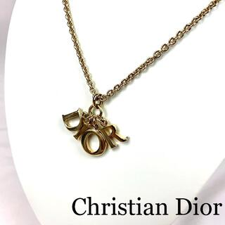 Christian Dior - Christian Dior ロゴトップ ネックレス 箱付き