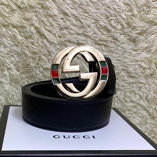 Gucci - レア 入手困難 GUCCI ベルト シェリーライン インターロッキング 4cm