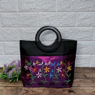 新品ベトナム刺繍のハンドバッグ/トートバッグ