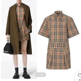 バーバリー(BURBERRY)のBURBERRY チェックシャツ ワンピース ドレス(ミニワンピース)