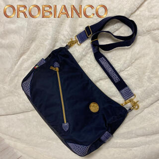 オロビアンコ(Orobianco)の☆レアモデル☆ブルークロコ オロビアンコ OROBIANCO ショルダーバッグ(ショルダーバッグ)