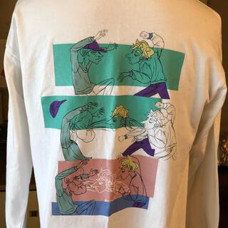 ビームス(BEAMS)の【即完売品】LeftAloneレフトアローンスウェットロンTトレーナー 刺繍/白(Tシャツ/カットソー(七分/長袖))