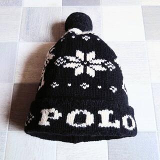 ポロラルフローレン(POLO RALPH LAUREN)のPOLO RALPH LAUREN ノルディック ニット キャップ ブラック(ニット帽/ビーニー)