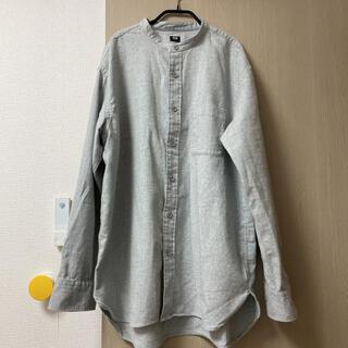 UNIQLO - 着用1回のみ ユニクロ フランネル スタンドカラーシャツ L
