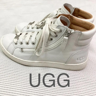 UGG - UGG ハイカット レザースニーカー 23  白