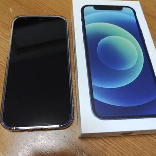 iPhone - ほぼ未使用品 iPhone12 mini 64GB ブルー au simフリー