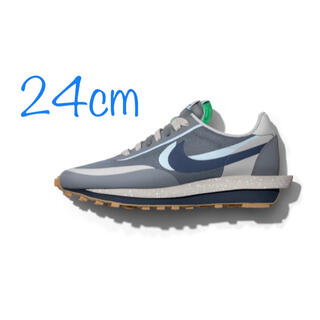 SACAI × Nike × CLOT LDWaffle Cool Grey