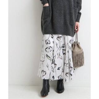 IENA - acha様専用❄️20AW美品フラワーアートプリント フレアスカート34