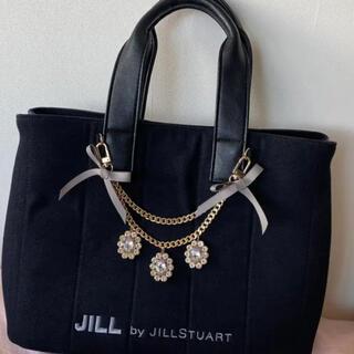 ジルバイジルスチュアート(JILL by JILLSTUART)のJILL BY JILLSTUART ジュエルリボントート ブラック(トートバッグ)