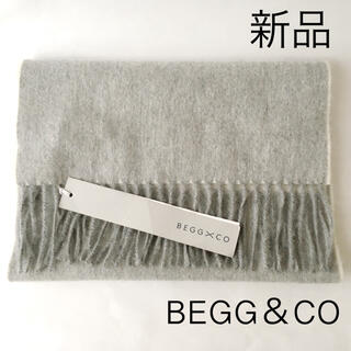 DEUXIEME CLASSE - 【新品タグ付き】BEGG&CO カシミヤ100% マフラー グレー 170×30