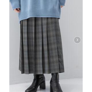 LOWRYS FARM チェックプリーツスカート