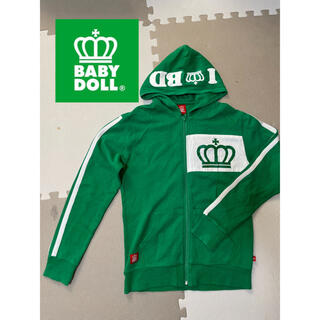 ベビードール(BABYDOLL)のBABY DOOL ベビードール パーカー ジップアップパーカー 緑 グリーン(パーカー)