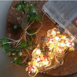新品☆クリスマスイルミネーション☆雪だるま&もみの木LEDライト☆サンタクロース