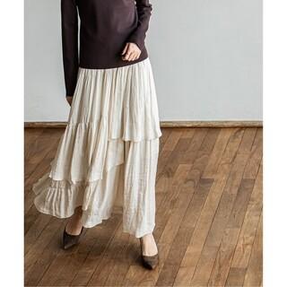 Noble - 21SS超美品ランダムティアードロングスカート