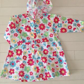 キッズフォーレ(KIDS FORET)のレインコート 女の子 雨具 90cm キッズフォーレ 収納袋 可愛い(レインコート)
