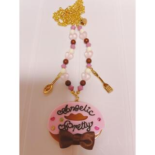 Angelic Pretty - Angelic Pretty Creamyドーナツネックレス ピンク