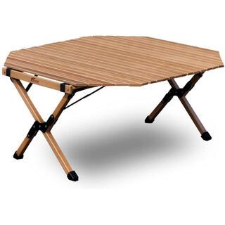 フィールドア(FIELDOOR)のFIELDOOR ウッドロールトップテーブル 八角形型 【ナチュラル】(テーブル/チェア)