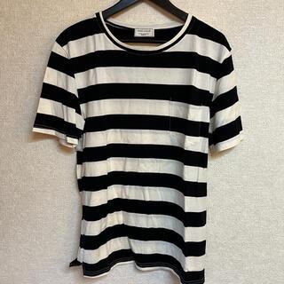 MAISON KITSUNE' - MAISON KITSUNE ボーダー Tシャツ ブラック