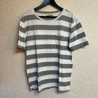 MAISON KITSUNE' - MAISON KITSUNE ボーダー Tシャツ グレー