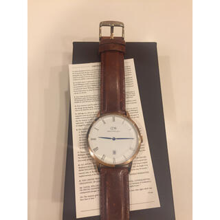 ダニエルウェリントン(Daniel Wellington)のダニエルウェリントン腕時計メンズレディース38㎜電池交換済み(^ ^)(腕時計)
