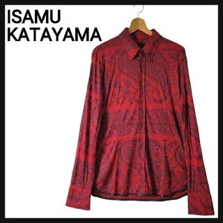 ISAMUKATAYAMA BACKLASH - 【美品・シルク混】イサム カタヤマ バックラッシュ 高級 総柄 シャツ Lサイズ