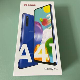 ギャラクシー(Galaxy)のGalaxy A41 ブルー(Androidケース)