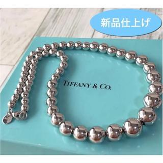 Tiffany & Co. - 新品仕上げ ティファニー ハードウェア グラジュエイテッド ボール ネックレス