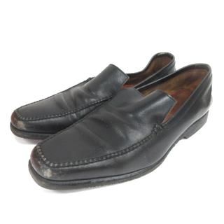 エルメス(Hermes)のエルメス ローファー ビジネスシューズ レザー 28cm ブラック 靴 ECR9(スリッポン/モカシン)