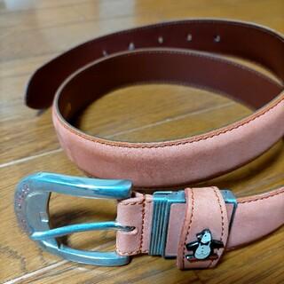 Munsingwear - マンシングウェア ベルト 革 オレンジ サイズ68〜78
