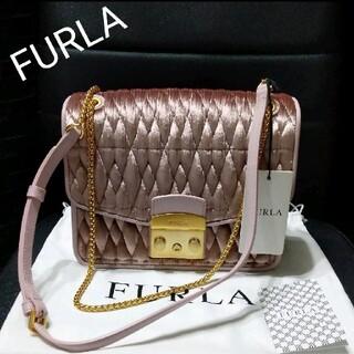 Furla - FURLA メトロポリス ベロア キルティング チェーン ショルダーバッグ