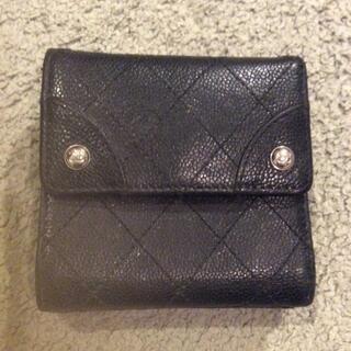 CHANEL - Chanel シャネル 三つ折り財布 キャビアスキン
