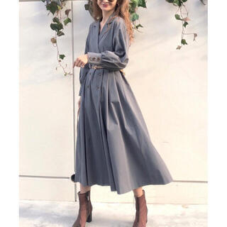 Ameri VINTAGE - AMERI LONG COAT LIKE BELT DRESS.