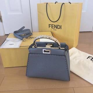 FENDI - ピーカブー セレリア ミニ パイソン ハンドバッグ