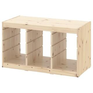 イケア(IKEA)のトロファスト パイン材 フレームのみ(棚/ラック/タンス)