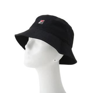 FILA - FILA ロゴ バケットハット 黒 帽子 人気 カジュアル フィラ バケハ値下げ