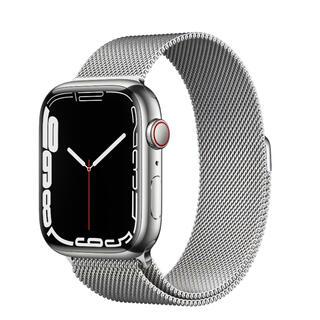 Apple - 新品 即納 Apple Watch 7 45mm シルバーステンレス ミラネーゼ